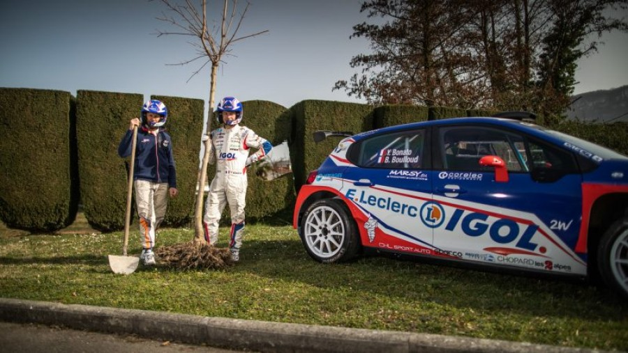 French rally champion commits to planting one tree for every lap win